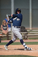 Milwaukee Brewers third baseman Tucker Neuhaus (48) during a Minor League Spring Training game against the Colorado Rockies at Salt River Fields at Talking Stick on March 17, 2018 in Scottsdale, Arizona. (Zachary Lucy/Four Seam Images)