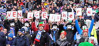 Italian rugby fans enjoy the day - RBS 6 Nations - Scotland vs Italy -  Murrayfield Stadium - Edinburgh - 09/02/13 - Picture Simon Bellis/Sportimage .Edinburgo 9/2/2013 .Rugby 6Trofeo 6 Nazioni.Scozia Italia.Foto Insidefoto ITALY ONLY