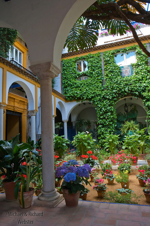 The Private Gardens Of Seville Are Not Obvious As They Are Tucked Away In  Courtyards These