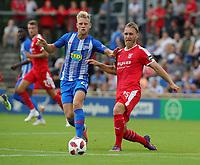 Arne Maier, Bjoern Jopek /   /        /     <br /> / Sport / Football / pre season friendly Bundesliga  DFL /  2018/2019 / 15.08.2018 / Hertha BSC Berlin vs. Hscher FC Chemie HFC / DFL regulations prohibit any use of photographs as image sequences and/or quasi-video. /<br />       <br />    <br />  *** Local Caption *** &copy; pixathlon
