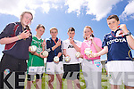 referees Aoife Godley, Sean Lucid, Liam Dowling, Jack Brosnan, Micheala Barrett, Kevin Goulding  at the North Kerry Primary schools Hurling Blitz at Ballyheigue on Thursday