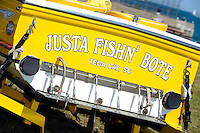 Jersey Speed Skiff transom...10-12 July, 2009, 100th Gold Cup, Detroit River, Detroit, MI USA..©2009 F.Peirce Williams, USA.