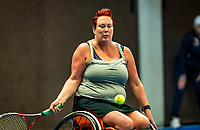 Alphen aan den Rijn, Netherlands, December 18, 2019, TV Nieuwe Sloot,  NK Tennis, Wheelchair woman's, 	<br /> Ilse van de Burgwal (NED)<br /> Photo: www.tennisimages.com/Henk Koster