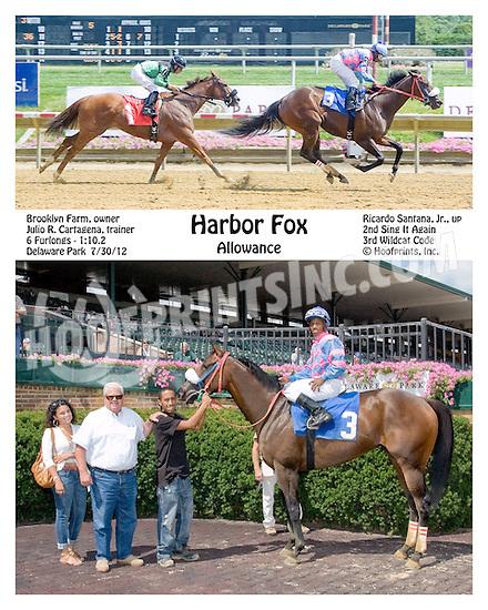Harbor Fox winning at Delaware Park on 7/30/12