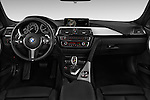 Stock photo of straight dashboard view of 2018 BMW 3-Series 328d-Sports-Wagon 5 Door Wagon Dashboard