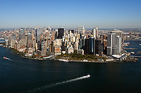 aerial photograph Battery Park downtown Manhattan, New York City