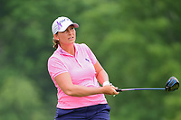 Angela Stanford (USA) watches her tee shot on 9 during Thursday's first round of the 72nd U.S. Women's Open Championship, at Trump National Golf Club, Bedminster, New Jersey. 7/13/2017.<br /> Picture: Golffile | Ken Murray<br /> <br /> <br /> All photo usage must carry mandatory copyright credit (&copy; Golffile | Ken Murray)