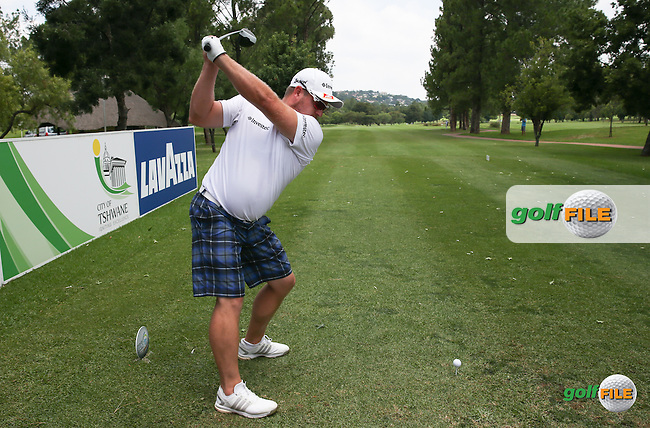 Merrick Bremner (RSA) bombs one down the 9th during the preview days of the 2016 Tshwane Open, played at the Pretoria Country Club, Waterkloof, Pretoria, South Africa.  09/02/2016. Picture: Golffile | David Lloyd<br /> <br /> All photos usage must carry mandatory copyright credit (&copy; Golffile | David Lloyd)