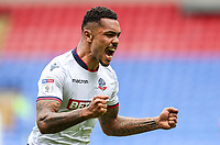 Bolton Wanderers' Josh Magennis celebrates scoring<br /> <br /> Photographer Andrew Kearns/CameraSport<br /> <br /> The EFL Sky Bet Championship - Bolton Wanderers v Bristol City - Saturday August 11th 2018 - University of Bolton Stadium - Bolton<br /> <br /> World Copyright &copy; 2018 CameraSport. All rights reserved. 43 Linden Ave. Countesthorpe. Leicester. England. LE8 5PG - Tel: +44 (0) 116 277 4147 - admin@camerasport.com - www.camerasport.com
