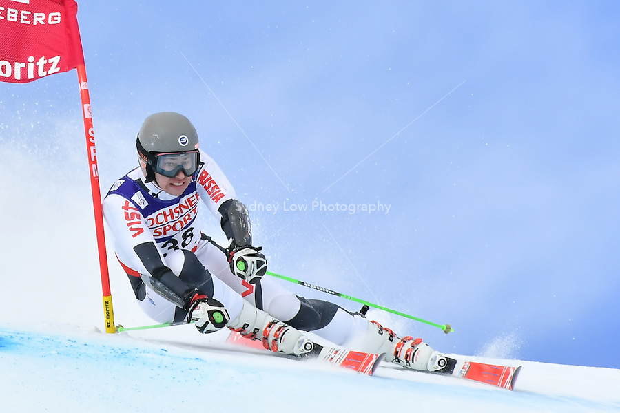 February 17, 2017: Aleksander ANDRIENKO (RUS) competing in the men's giant slalom event at the FIS Alpine World Ski Championships at St Moritz, Switzerland. Photo Sydney Low