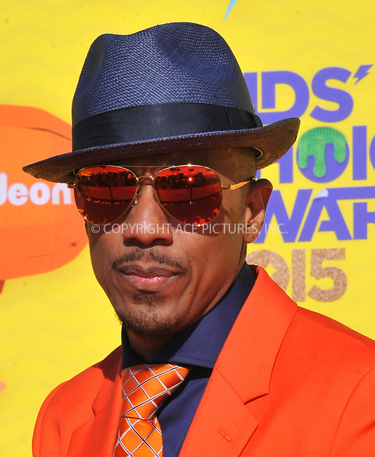 WWW.ACEPIXS.COM<br /> <br /> March 28 2015, LA<br /> <br /> Nick Cannon arriving at Nickelodeon's 28th Annual Kids' Choice Awards at The Forum on March 28, 2015 in Inglewood, California. <br /> <br /> <br /> By Line: Peter West/ACE Pictures<br /> <br /> <br /> ACE Pictures, Inc.<br /> tel: 646 769 0430<br /> Email: info@acepixs.com<br /> www.acepixs.com