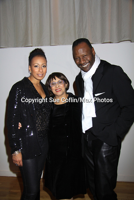 "As The World Turns; Law and Order SVU Tamara Tunie poses with mom GG and husband Gregory Generet at Hearts of Gold's 16th Annual Fall Fundraising Gala & Fashion Show ""Come to the Cabaret"", a benefit gala for Hearts of Gold on November 16, 2012 at the Metropolitan Pavilion, New York City, New York.   (Photo by Sue Coflin/Max Photos)"