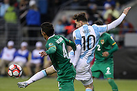 Seattle, WA - Tuesday June 14, 2016: Lionel Messi during a Copa America Centenario Group D match between Argentina (ARG) and Bolivia (BOL) at CenturyLink Field.