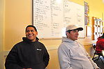 The job board for Guatemalan day laborers at Neighbors Link Community Center, Mt. Kisco, New York.