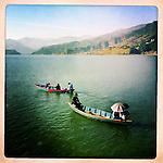 Boats in Nepal.