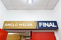 A general view of Anglo-Welsh Cup Final branding. Anglo-Welsh Cup Final, between Bath Rugby and Exeter Chiefs on March 30, 2018 at Kingsholm Stadium in Gloucester, England. Photo by: Patrick Khachfe / Onside Images