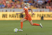 Denise O'Sullivan (13) of the Houston Dash races up the field with the ball against the Orlando Pride on Friday, May 20, 2016 at BBVA Compass Stadium in Houston Texas. The Orlando Pride defeated the Houston Dash 1-0.