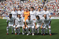 Real Madrid starting XI.  Real Madrid defeated DC United 3-0 at FedEx Field, Sunday August 9, 2009 in an International Friendly.