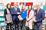 Katie O'Connor from the Castleisland Community College, winner of the Kerry ETB Christmas Card Competition, at the ETB Offices in Centrepoint, Tralee on Friday. <br /> L to r: Pia Thornton (Teacher), Hugh Culloty, Katie O'Connor, Ann O' Dwyer (Director of Schools, Youth and Music. ETB) and Colm McEvoy (Chief Executive Officer ETB).