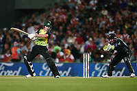 D'Arcy Short of Australia bats. New Zealand Black Caps v Australia, Final of Trans-Tasman Twenty20 Tri-Series cricket. Eden Park, Auckland, New Zealand. Wednesday 21 February 2018. © Copyright Photo: Anthony Au-Yeung / www.photosport.nz