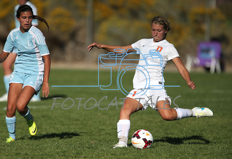 Girls soccer action between Douglas and Reed at DHS in Minden, Nev., on Tuesday, Sept. 15, 2014. Douglas won 7-0. <br /> Photo by Cathleen Allison