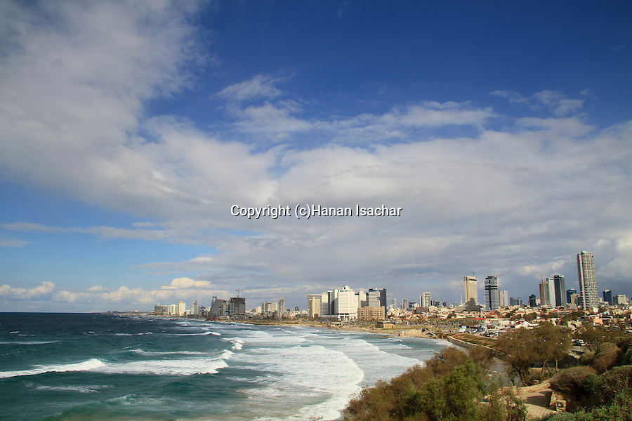Israel, Tel Aviv-Yafo, a view af Tel Aviv from Old Jaffa