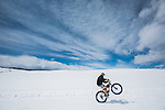 Pete Kopischke getting his wheelie on at the Lake Catamount nordic and Fat bike center.