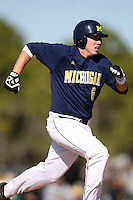 February 28, 2010:  Third Baseman John Lorenz of the Michigan Wolverines during the Big East/Big 10 Challenge at Raymond Naimoli Complex in St. Petersburg, FL.  Photo By Mike Janes/Four Seam Images