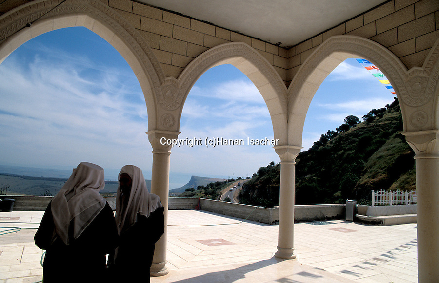 Israel, the lower Galilee. The view north-west from Nabi Shueib, the sacred site of the Druze&#xA;<br />