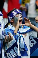 RCD Espanyol's fans before Spanish King's Cup final match between RCD Espanyol and Real Zaragoza at Santiago Bernabeu Stadium. Wednesday, April 12, 2006. (Alvaro Hernandez / Alterphotos / Insidefotopress)