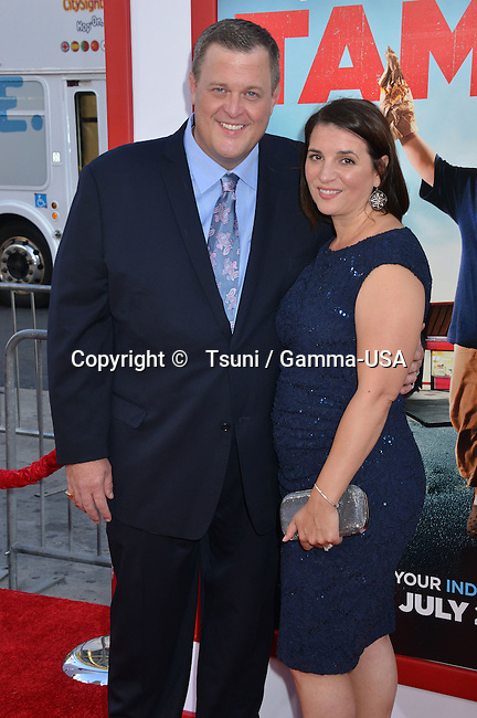 Billy Gardell and wife at the Tammy Premiere at the Chinese Theatre In Los Angeles.