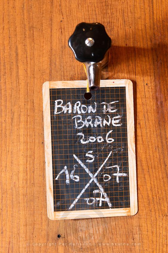 Fermentation tanks. Sign. Baron de Brane 2006. Chateau Brane Cantenac, Margaux, Medoc, bordeaux, France