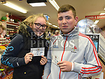 Laura and Pádraic Downey with their Ed Sheeran tickets at Jojo's Newsagent West street. Photo:Colin Bell/pressphotos.ie