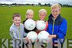 Enjoying the multi-sports camp in Ardfert on Thursday were: Gary O'Riordan, Adam McDonagh, Odhran Ferris and Earnán Ferris.