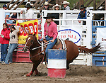 Caree Cutler rides in the 40-50 age division of ladies barrel racing.