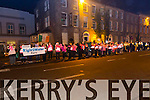 Right2Water silent candle lit  protest Ladies Group outside the Tralee Chamber Alliance  in Denny St on Thursday evening as Tánaiste Joan Burton Minister for Social Protection was  meeting inside