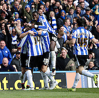 Sheffield Wednesday v Cardiff .Sky Bet Championship ....... Wednesdays player celebrate with Gary Hooper