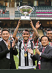 Juventus' player Roberto Pereyra celebrates after winning the AET International Challenge Cup of the South China vs Juventus match on 30 July 2016 at Hong Kong Stadium, in Hong Kong, China.  Photo by Marcio Machado / Power Sport Images