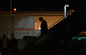 United States President-elect Donald Trump's walks out his plane at Ronald Reagan Washington National Airport January 18, 2017 in Washington, DC. PEOTUS will be attending two dinners tonight, the first honoring VPEOTUS Pence at the National Gallery of Art and the second at the Library of Congress honoring his cabinet appointees. <br /> Credit: Olivier Douliery / Pool via CNP