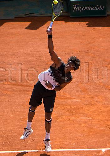 2011-04-13 ..Monte Carlo Monaco.. Monte Carlo Rolex Masters...Gael Monfils versus Daniel Gimeno-Traver He won  7-5 and  6-2.  ........