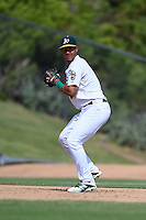 Oakland Athletics infielder Edwin Diaz (8) during an Instructional League game against the San Francisco Giants on October 15, 2014 at Papago Park Baseball Complex in Phoenix, Arizona.  (Mike Janes/Four Seam Images)