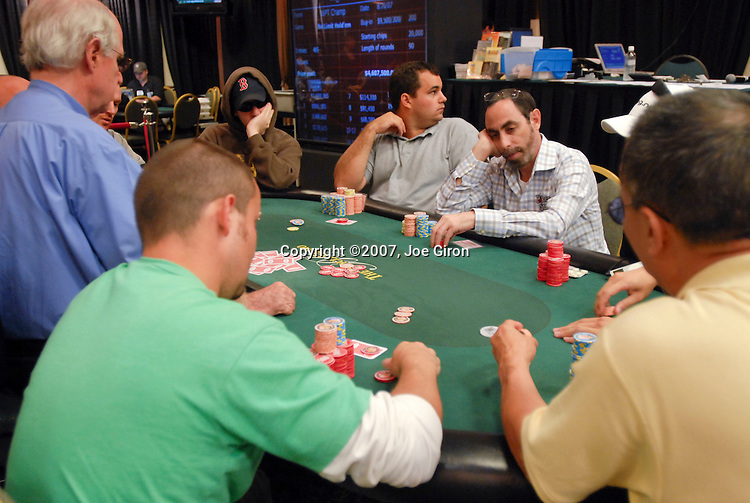 Father & son, Barry Greenstein and Joe Sebok are seated at the same table on day 3.