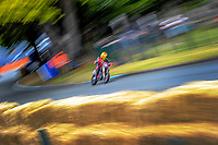 Mark Oliver (Waitotara) competes in Supermoto race one. The 2017 Suzuki series Cemetery Circuit motorcycle racing at Cooks Gardens in Wanganui, New Zealand on Tuesday, 27 December 2017. Photo: Dave Lintott / lintottphoto.co.nz