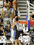 USA's Tyson Chandler (f) and Argentina's Martin Leiva during friendly match.July 22,2012. (ALTERPHOTOS/Acero)