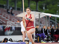 NWA Democrat-Gazette/CHARLIE KAIJO Alexis Jacobus perform's the pole vault during the SEC track and field championships, Friday, May 10, 2019 at John McDonnell Field in Fayetteville.