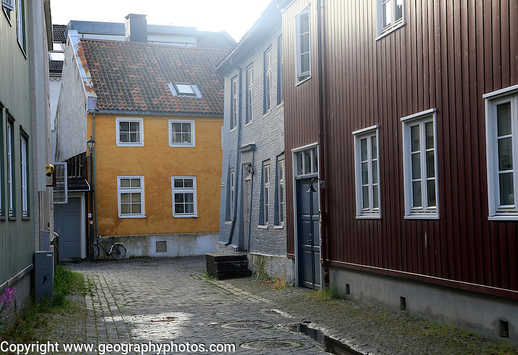 Historic buildings in city centre,  Trondheim, Norway