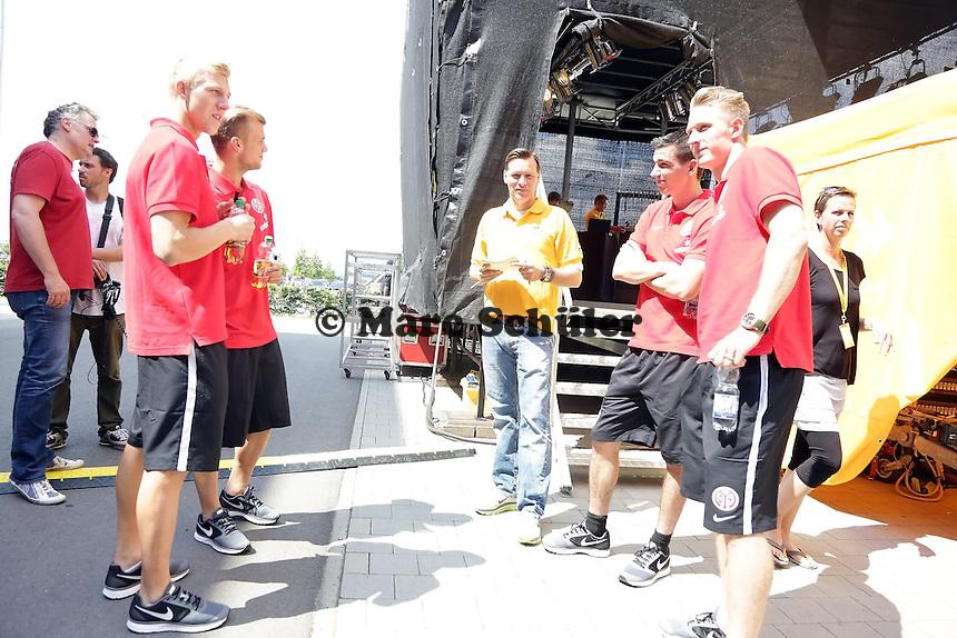 Neuzugänge Johannes Geis, Sebastian Polter, Christoph Moritz, Julian Koch (Mainz 05)