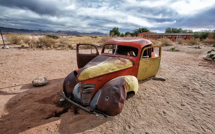 One of many carefully abandoned old cars around Solitaire, Namibia.