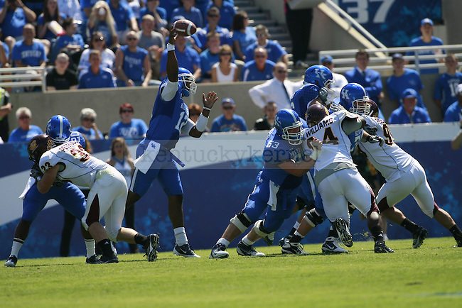 During the first half of UK's first home game against Central Michigan, Saturday, Sept. 10, 2011 in Lexington, Ky.  Photo by Brandon Goodwin | Staff