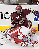 Joe Rooney, Brandon Yip - The Boston University Terriers defeated the Boston College Eagles 2-1 in overtime in the March 18, 2006 Hockey East Final at the TD Banknorth Garden in Boston, MA.